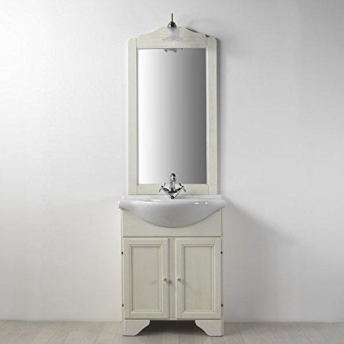 Mobile a terra per arredo bagno decape' sbiancato lavanda 75 cm