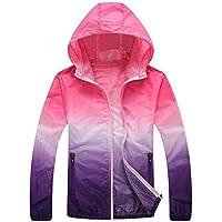 Men Jacket Home Abrigo de la Chaqueta con Capucha de Color Transpirable Ombre Ultrafino Windbeaker para Hombre (Color : Pink, Size : XS)