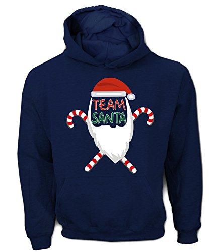 Artdiktat Herren Hoodie - TEAM SANTA - Weihnachtsmannkostüm, Größe L, french (Herr Kostüm Grinch)