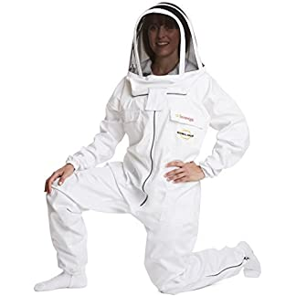 Natural Apiary - MAX PROTECT - BEEKEEPING SUIT - WHITE - EXTRA LARGE - (One Piece) - Clear View Fencing Veil - Maximum Protection - Professional & Beginner Beekeepers 8