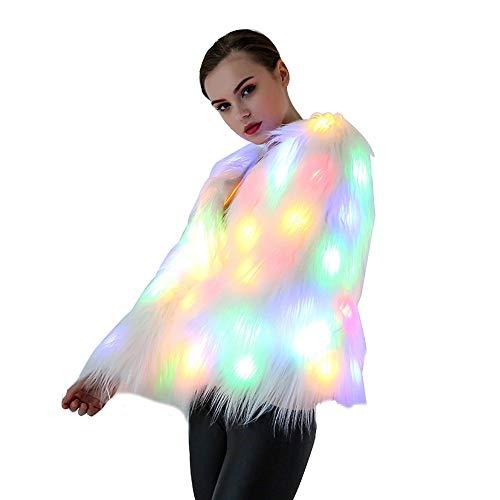 Burning Man Kostüm Weiblich - shihong-G Led Pelzmantel für Frauen leuchten
