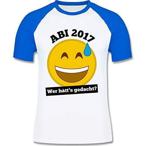 Abi & Abschluss - Abi 2017 - Wer hätt's gedacht? - zweifarbiges Baseballshirt für Männer Weiß/Royalblau