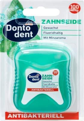 DONTODENT Zahnseide antibakteriell, 1 x 100 m