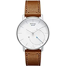 Aresh Withings Activité Withings Steel HR 36mm Zubehör band, 18mm Breite Echtes Lederband Smartwatch Band für Withings Activité, Activité Pop, Activité Steel, Withings Steel HR 36mm oder LG Watch Style, Huawei Fit Smart Fitness(Braun)