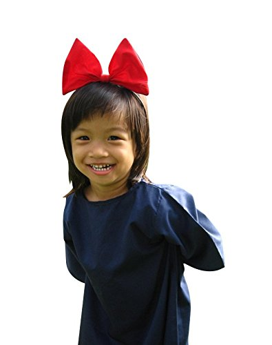 Kiki 's) Service Cosplay Kid Kleid mit Rot Haar Band (Jiji Kiki Kostüm Und)
