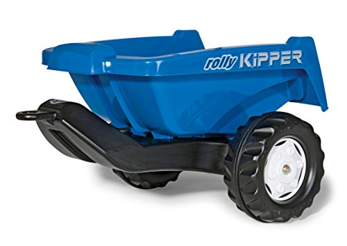 Rolly Toys rollyKipper II für Kinderfahrzeuge (blau, für Kinder von 2,5 - 10 Jahre, Einachsanhänger, mit Kippfunktion) 128816