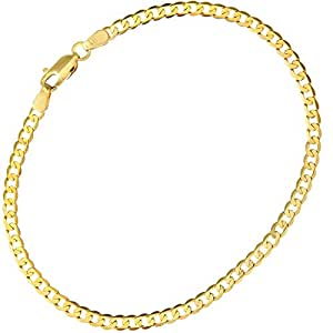 Citerna 9 ct Yellow Gold 2.2 g Curb Bracelet of 19 cm/7.5 Inch Length and 3 mm Width