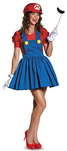 Women's Super Mario Outfit - Hat + Dress + Gloves - S, M or L