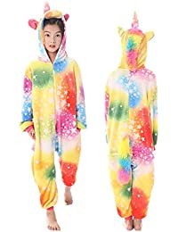 8993c1b195f OAMORE Unicornio Pijama Unisexo Animal Ropa de Dormir Cosplay Disfraces  Pijamas para Adulto Niños