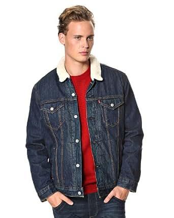 Levi's - Veste en jean de 'Sherpa Trucker' - Sherpa Trucker Foley - Taille Large - Couleur Bleu clair