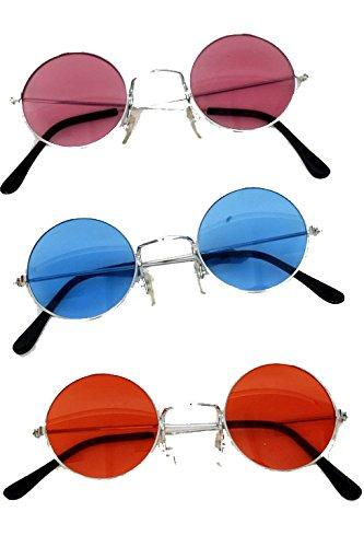 rosa Gläsern für Rock n Roll Kostüm und Beatles Kostüm ()