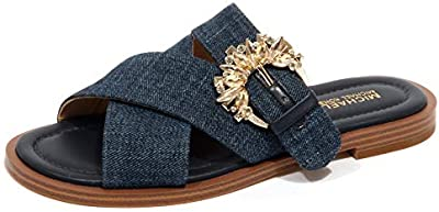 G0060 Sandalo Donna Blue Denim MICHAEL KORS Frieda Tissue Shoe Woman [35.5]