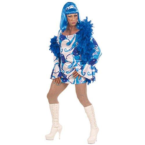 Kostüm Travestie - Sexy Travestie Kostüm 70er Kleid Kostüme Männerkostüm Travestiekostüm Drag Queen blau