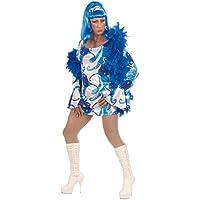 NET TOYS Costume de travesti sexy robe années 70 déguisement pour homme costume déguisement de travesti Drag Queen bleu