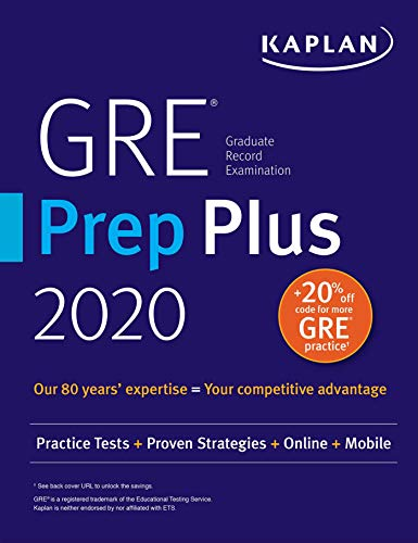 GRE Prep Plus 2020: Practice Tests + Proven Strategies + Online + Video + Mobile (Kaplan Test Prep) (English Edition)