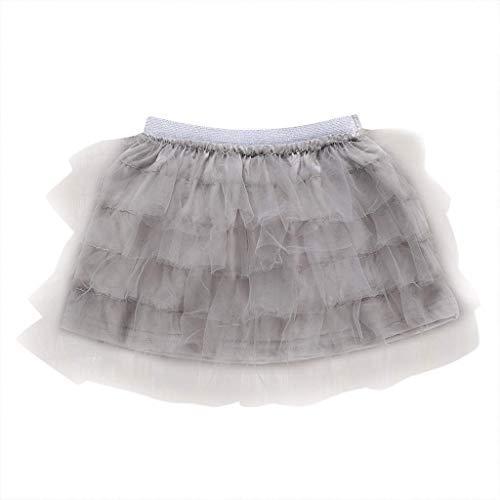 KIMODO Baby Mädchen Tanz Feste elastischer Tüll-Tutu-Rock Kleinkind Prinzessin Tütü Pettirock Ballett-Fantasie-Kostüm