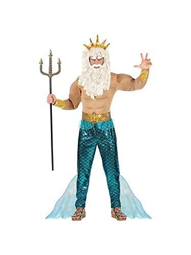 Meer Kostüm Unter Thema Party Dem - Widmann - Poseidon Wassermann Neptun Komplett-Kostüm