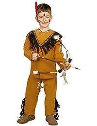Kinder Kostüm Indianer Tato Oberteil Hose braun Stirnband Fasching Verkleidung (4- 6 Jahre (Gr. 110/116))