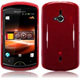 Sony Ericsson Live With Walkman (WT19i) TPU Gel Skin / Case / Cover - Red PART OF THE QUBITS ACCESSORIES RANGE