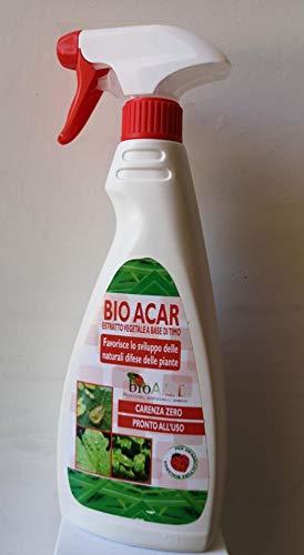 bio A.L.T INSETTICIDA BIO ACAR,Acari RAGNETTO Rosso E Giallo Prodotto Made in Italy Biologico 500 ML Pronto Uso
