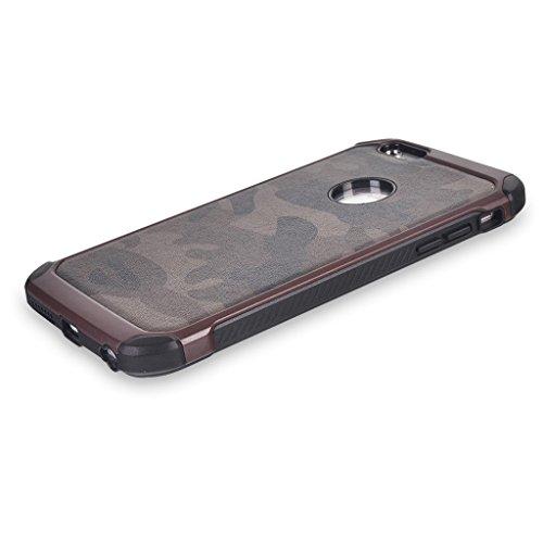 UKDANDANWEI Camo Series Hülle,Super Schild Hohe Gel Silikon Haut Slim Fit Zurück Schale Abdecken Schutzhülle Case Cover für iPhone 6 / 6s - Rosa Braun