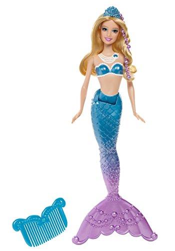 Mattel Barbie BGV22 - La principessa delle perle - Sirena - Bambola con colori cangianti - colore: Blu