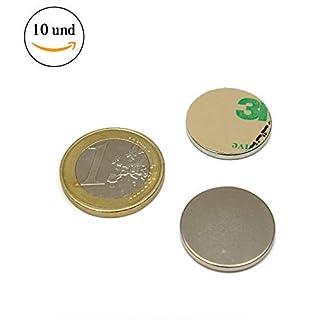 AimanGZ-10neodymium magnets Disc Adhesive North, 2cm Diameter x 1mm Thickness