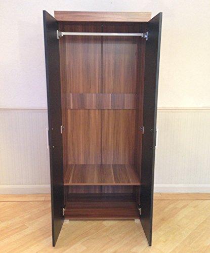 Black walnut bedroom furniture set wardrobe 5 drawer - Walnut bedroom furniture sets uk ...