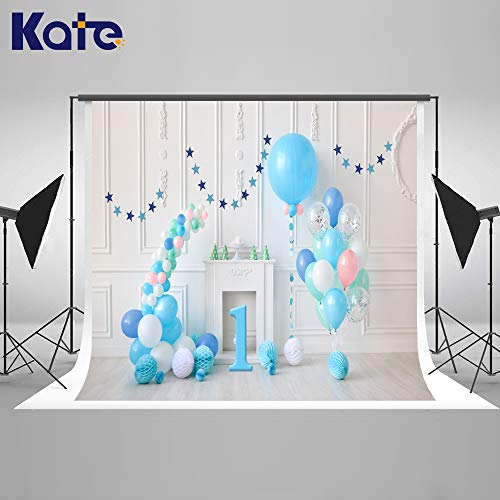 Kate 7x5ft / 2.2x1.5m Happy Birthday Foto Hintergrund Kinder Ballons Hintergrund Mikrofaser Nahtlose Party Photo Call für Kinder Fotografie Studio