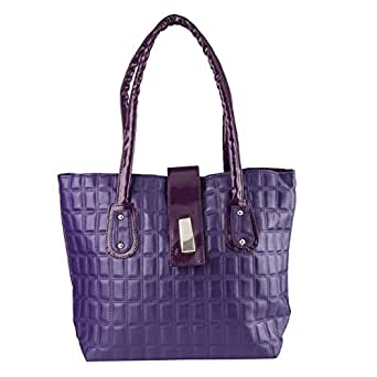 Stylathon Women's Shoulder Bag (Purple) (St-0033)