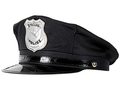 Alsino Polizeimütze verstellbar Polizei Hut Cop Erwachsene schwarz (174) Fasching Karneval Polizei-Kostüm - für Erwachsene, Innenumfang: bis 60 ()