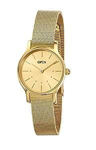 Opex X4073MA1 - Reloj de pulsera mujer, acero inoxidable, color dorado de Opex
