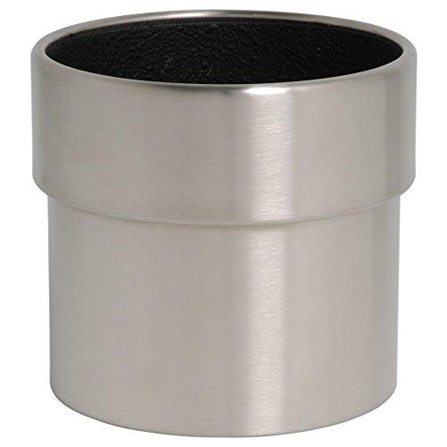 hydroflora 61426510 Pot à plante Value Line Cycle Edge diamètre 20 x 20 cm, en acier inoxydable V4A brossé mat