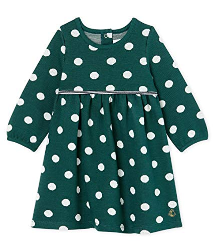 Petit Bateau Baby-Mädchen Robe ML_5027501 Kleid, Mehrfarbig (Sousbois/Marshmallow 01), 92 (Herstellergröße: 24M/86cm)