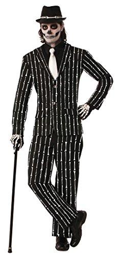 Emmas Garderobe Skeleton Abendkleid-Klage für Erwachsene - Jacke und Hose mit Bein Details - Outfit UK Größe M-XL (Men: One Size, Bones Suit) (Prince Charming Und Cinderella Kostüme)