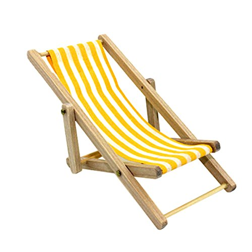 Qingsb Stripes Mini Lounge Sand Silla Scene Modelo