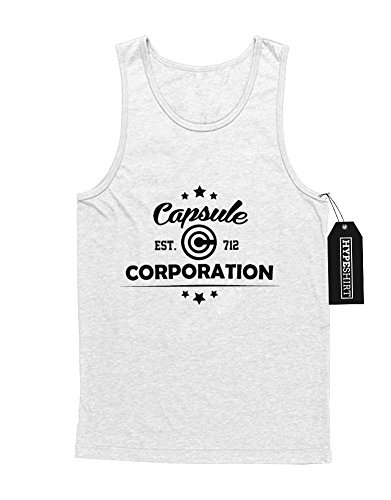 "Tank-Top Dragonball ""CAPSULE CORPORATION"" F123457 Weiß"