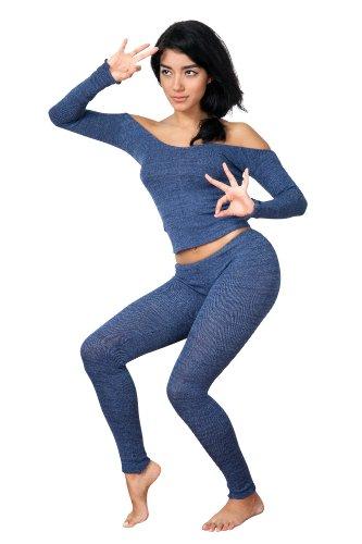 KD dance New York - Legging de sport -  Femme Bleu - Bleu marine