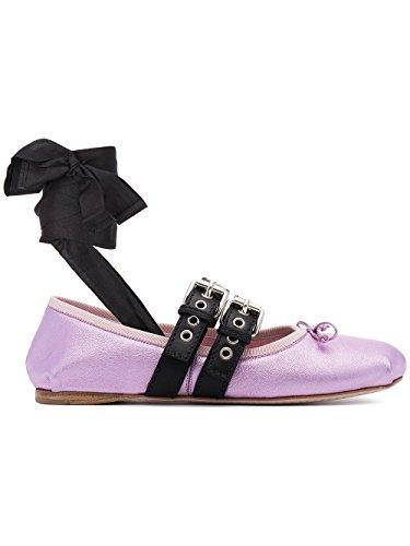 Miu-Miu-Womens-5F466A3K6QF046J-Pink-Leather-Flats