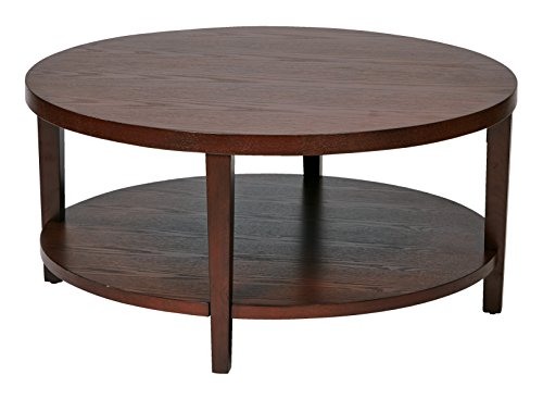 Ave Six OSP Furniture Merge Round Coffee Table, 36""