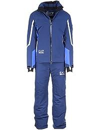Emporio Armani EA7 mono de esquí con pantalones y chaqueta hombre invernal blu