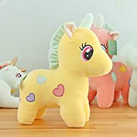 SillyMe Extra Soft Stuffed Toy for Girls Kids - 25cm | Stretchable Soft Feather Cotton Fabric (Yellow)