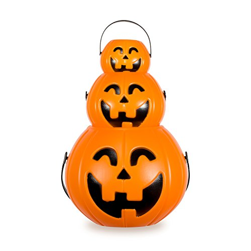 Halloween Kürbis Süßigkeit Eimer Zubita Süßigkeit Wannen Plastik Eimer Laterne 3 Stück (Süßigkeiten Für Halloween Kostüme)