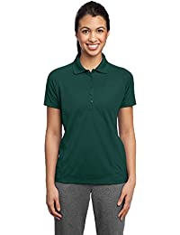 Sport-Tek® Ladies Dri-Mesh® Pro Polo. L474 Dark Green XS