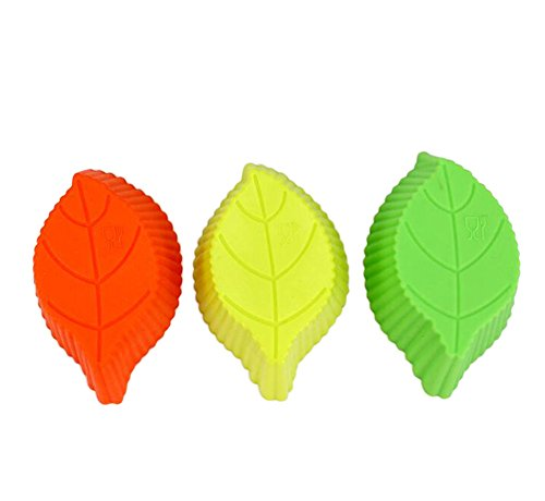 Chytaii 5X Molde Cocina Moldes Plastilina Molde de Silicona para Pasteles Molde de Chocolate/Helado Modelo Silicona de Jabón Hecho a Mano Modelo Alimenticio DIY Forma Hojas 9.5 * 5.5 * 3.2cm