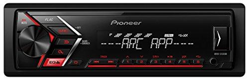 Pioneer MVH-S100UB 1/2 DIN-Autoradio mit AUX-In und USB, RDS Tuner, Wiedergabe von MP3 WMA WAV FLAC über MOS-FET 4x 50W schwarz