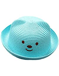 Leisial Niños Bebé Sombrero de Paja Playa Sombrero de Osoito Gorro de Sol  de Ocio al Deporte Aire Libre Verano… 593a152aed8