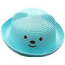 Leisial Niños Bebé Sombrero de Paja Playa Sombrero de Osoito Gorro de Sol  de Ocio al d2373727924