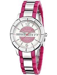Miss Sixty SG8005 - Reloj analógico de cuarzo para mujer con correa de acero inoxidable, color rosa