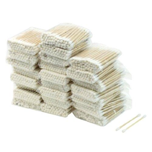 Sourcingmap Lot de 24 paquets de cotons-tiges avec tiges en bois